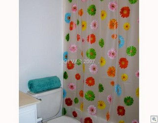 Mum's the word about the shower curtain.