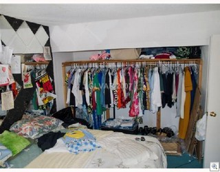 Debbies boyfriend got drunk and broke the closet doors. Debbie was  happy to have easier access to her clothes.