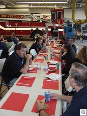 Dinner conversation with the fire and rescue team of station 1