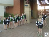 We were greeted by the girls gymnastic team