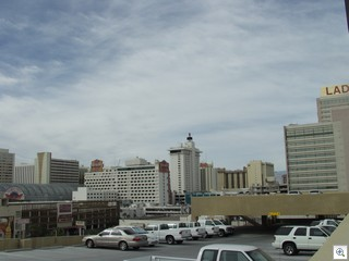 Roof Top View of Downtown Las Vegas from the City Hall Parking Garage