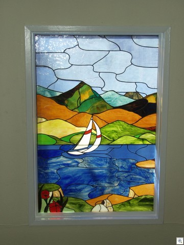 Summer At Lake Mead - Stained Glass in Liberace Townhome