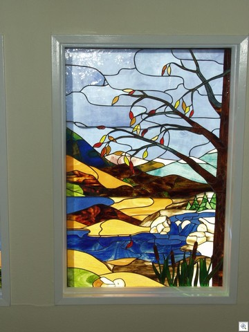 Autumn At Lake Mead - Stained Glass in Liberace Townhome