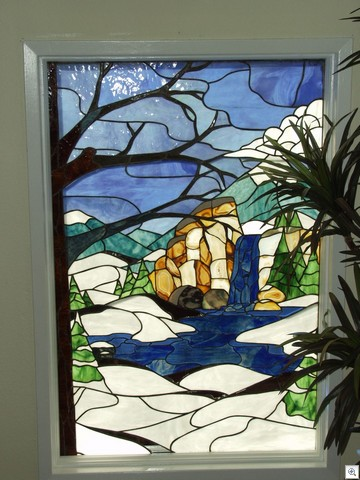 Winter At Lake Mead - Stained Glass in Liberace Townhome