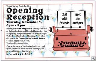 Book fair opening reception announcement