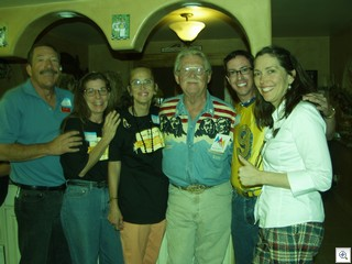 The VVV gang ( l to r)Uncle Jack, Pam, Mary, Dr. Lonnie, Paco and MaryMargaret from the Atomic Age Alliance