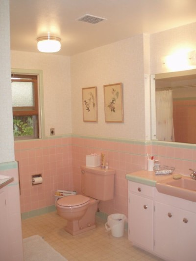 Susan's pink bathroom After 3 months of life