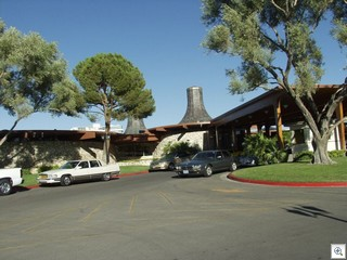 Las Vegas Country Club features Nuclear Power Plant  roof line. The clubhouse architect was Julian Gabrielle