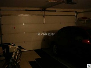 The Garage has a door and there's room for a bicycle too.