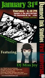 Damned Ink Studio Anniversary Flyer