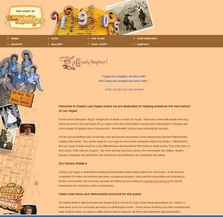 Classic las vegas homepage