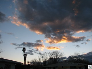 February 24 Sunset Over John S Park Historic Neighborhood in Downtown Las Vegas