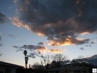 February 24 Sunset Over John S Park Historic Neighborhood in Downtown Las Vegas