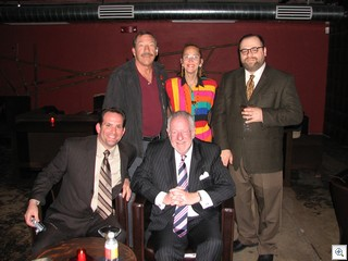 Jack LeVine, Mary Alderman, Ivan Brunetti, Richard Emanuelle, and His Honor, Mayor Oscar Goodman at the Downtown Coctail Room during the dedication ceremony of the new Aerial Gallery in Downtown Las Vegas