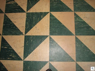 ACM Floor Tile (probably) on the floor of Jack LeVine's home office in historic downtown Las Vegas