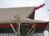 Tiki Styled roof line at 6th and Canosa in the Historic Beverly Green Neighborhood of Las Vegas
