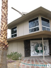 "One of the great examples of Tiki influence is on the ""Jackie Gaughan"" house on Chapman, in the historic Crestview Estates Neighborhood of Las Vegas"