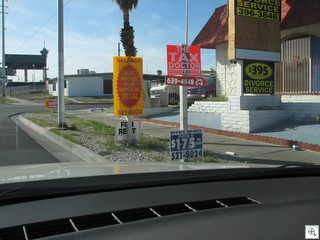 Illegal signage is one thing that makes urban Las Vegas look  ugly.