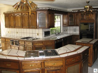 Inlaid Mosaic Inserts Make The Counter Tops One Of  A Kind In This Historic Las Vegas Mansion