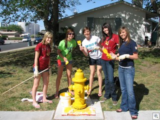 Bishop Gorman High School Students At The Huntridge and Marycrest Historic Neighborhood Beautification Event