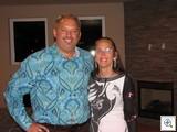 Ken Wolfson, of Wolfson Lofts with the VeryVintageVegas fashionista, Mary Joy Alderman.