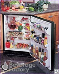 BEVERAGE FACTORY Under counter refridgerators are a great energy and space saving way to remodel a kitchen