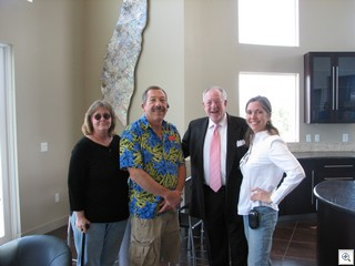 Lynn Zook, Jack LeVine, Mayor Oscar Goodman and MaryMargaret Stratton at the Wolfson Lofts Grand Opening