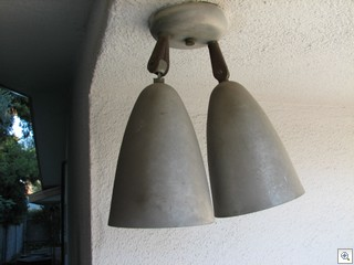 Brushed aluminum spot lights from the 60's found in a mid century modern foreclosure in Las Vegas