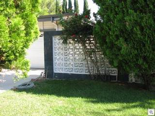 decorative concrete block sunscreens are a common feature in mid century modern homes in las vegas - Decorative Concrete Block