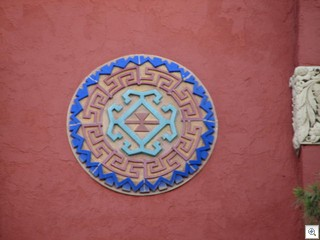 One of the 3 medallions on the origianal Historic Las Vegas High School