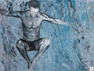 Free Fall by Andrew Douglas - Showing at the Brett Wesley Gallery - Las Vegas
