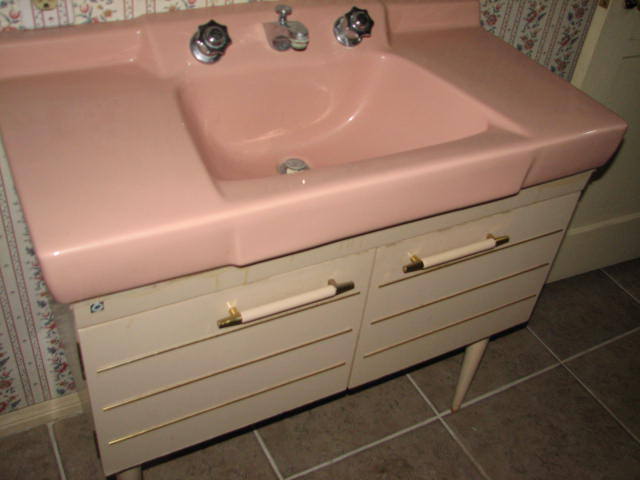 pink bathroom sinks s vintage vegas mid century modern homes 13973