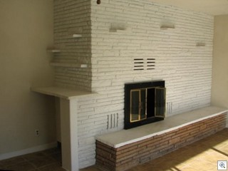 Natural Stone Full Wall Fireplaces Were A Common Theme In Mid Century Modern Ranch Homes In Las Vegas