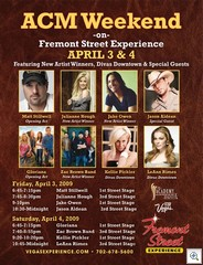 Academy of Country Music Weekend at Fremont Street Experience In Downtown Las Vegas