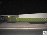 Caddy shack at night - A William Krisel designed Mid Mod home in Paradise Palms, Las Vegas