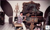 Liberace seated at Pleyel Piano April 15, 1979