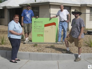 Huntridge West Neighborhood Association Installs Monument Signs At Entrance To Historic Las Vegas Neighborhood - photo credit: Downttown View