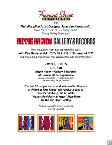 John Van Hamersveld - Hippie Nation Gallery and Records - Las Vegas Nevada