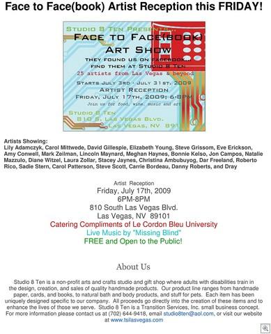 Face to facebook art show