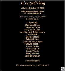 It's A Girl Thing - Reed Whipple Cultural Center
