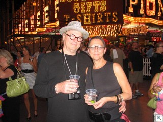 John Van Hamersveld and his wife Aleda at Mayor Oscar Goodman's 70th Birthday party