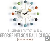 Lushpad give away clock
