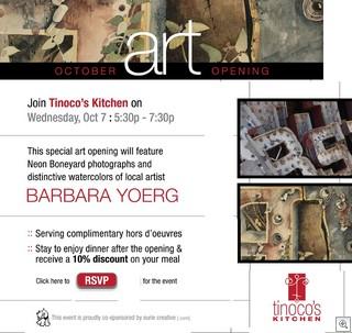 Tinoco's Kitchen Art Opening - Ocotober 7, 2009
