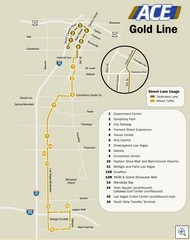 ACE Gold Line Map