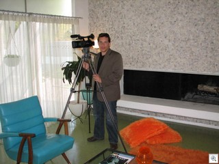 Jake Gorst of Design On Screen filming the William Krisel Documentary in Las Vegas