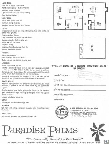 Paradise Palms Las Vegas Plan 20002