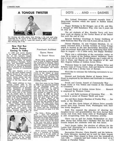 JULY 63 Paradise Palms Newsletter - Las Vegas Nevada0002