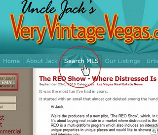 Searching the MLS for Vintage and Mid Century Modern Homes and Neighborhoods in Las Vegas