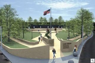 Veteran's Memorial At Huntridge Circle Park In Downtown Las Vegas