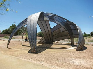 Flamingo Arroyo Public Art and Shelter - photo by Las Vegas Weekly